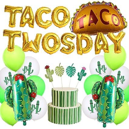 Amazon.com: KREATWOW Taco - Decoración para fiesta de ...