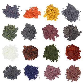 Amazon.com: Candle Wax Dye - Dye Chips for Making Candles - 16 Dye ...