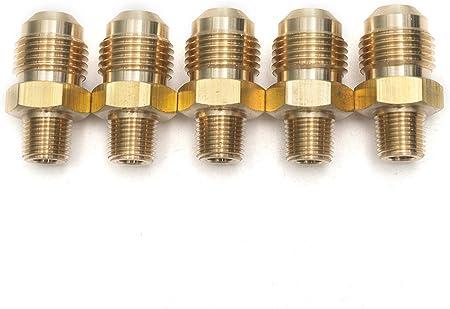 "5 X New Brass Flare 3//8/"" OD x 1//2/"" Female NPT Female Connector Tube Fitting"