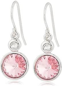 Daniel Swarovski Edition Women Crystal DSE Twin Solitaire Hook Earrings F/W 19