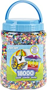 Perler Beads Bulk Assorted Multicolor Fuse Beads for Kids Crafts, 18000 pcs
