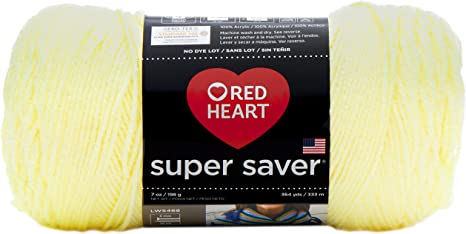 Bright Yellow 3 Pack RED HEART E300PK.0324 Super Saver 3-Pack Yarn