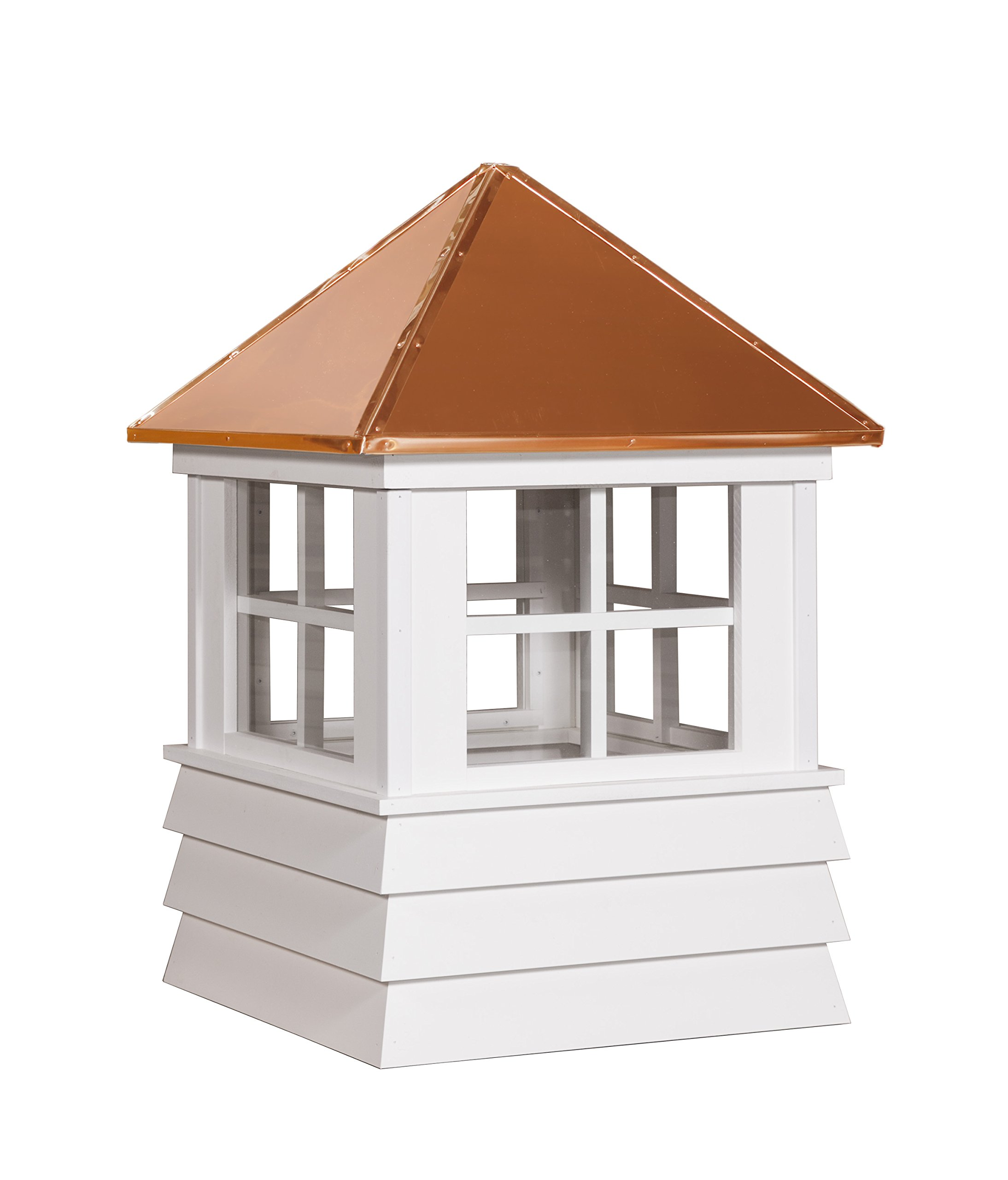 East Coast Weathervanes and Cupolas Vinyl Somerset Cupola (Vinyl, 21 in square x 33 in tall)