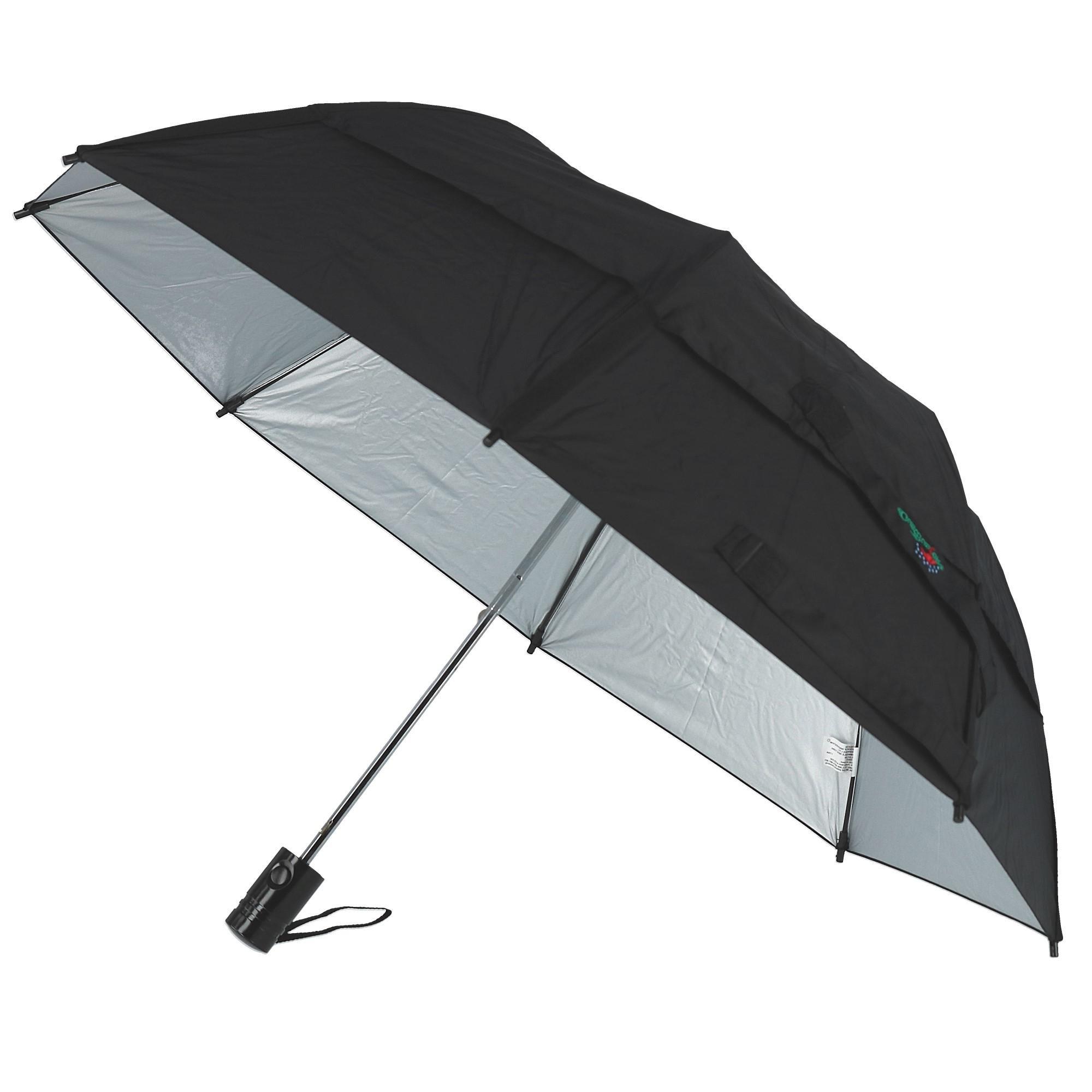 GustBuster Metro 43-Inch Automatic Umbrella, Black/Silver Sunblock