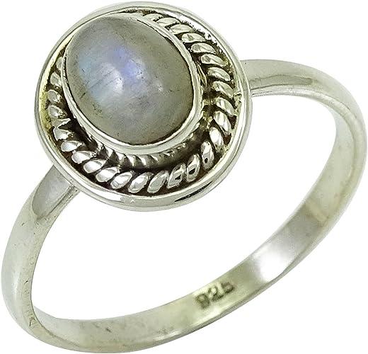 LAB Opal Antique Filigree Design .925 Sterling Silver Ring Size 6.75 KN-3083