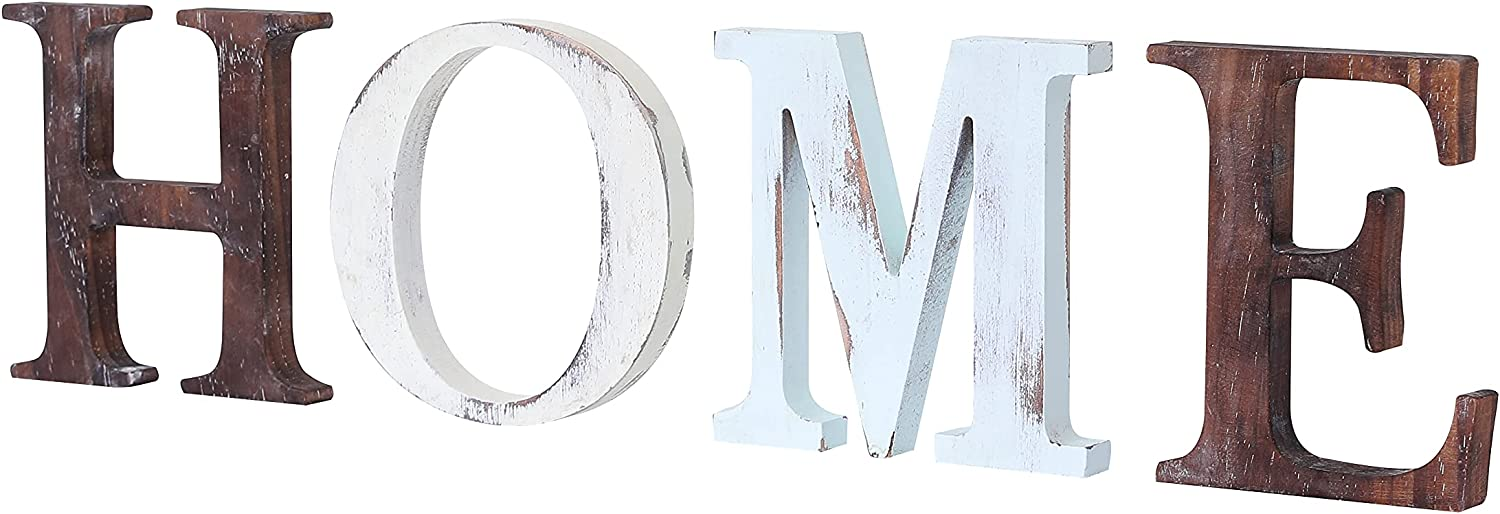ZHBLWG Wood Letters for Wall Decor Home Wall Decor Rustic Wall Decor Farmhouse Letters for Wall Decor Living Room Decoration Rustic Decor for Farmhouse Kitchen Bedroom