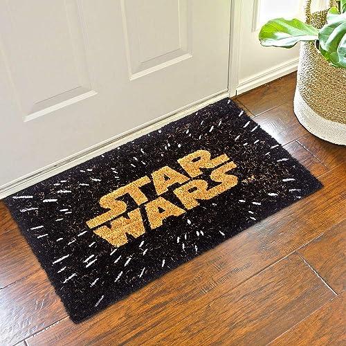 Pyramid America Star Wars Logo Movie Outdoor Doormat Door Mat 30×18 inch