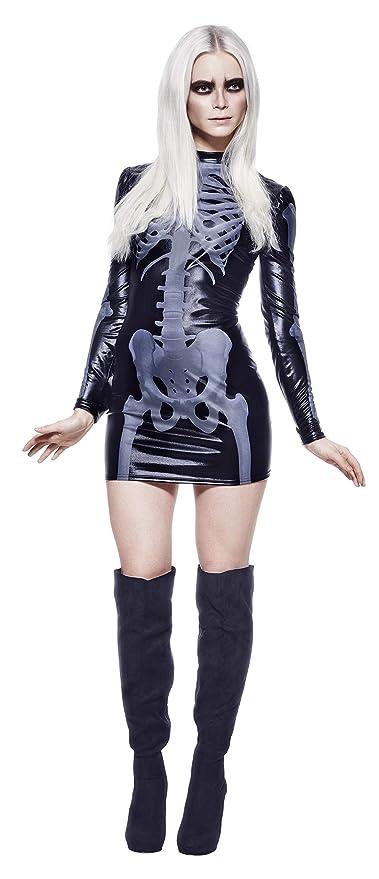 SMIFFYS Costume Fever da scheletro donna con frusta cab8483b4e1f