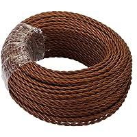 GreenSun LED Lighting 5 Meter Cable Textil Electrico, Cables de Revestimiento Cables Trenzados Vintage Cables de…