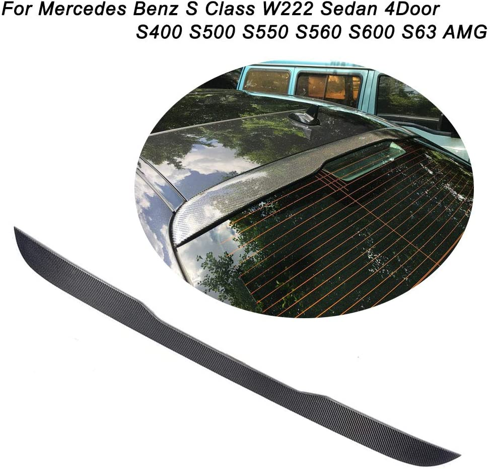 Fits: Mercedes Benz S Class W222 2014-On Rear Roof Spoiler Window Wing