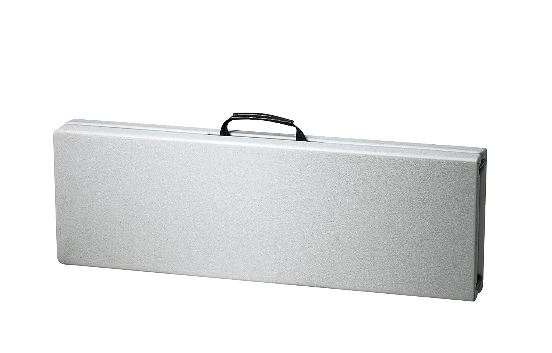 White Office Star PC-15F Resin Multi-Purpose Center Folding Bench 6-Feet Long