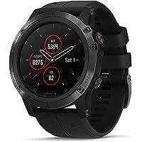 Garmin Fenix 5X Plus Titanium Multisport GPS Smartwatch with Music Storage (Black)
