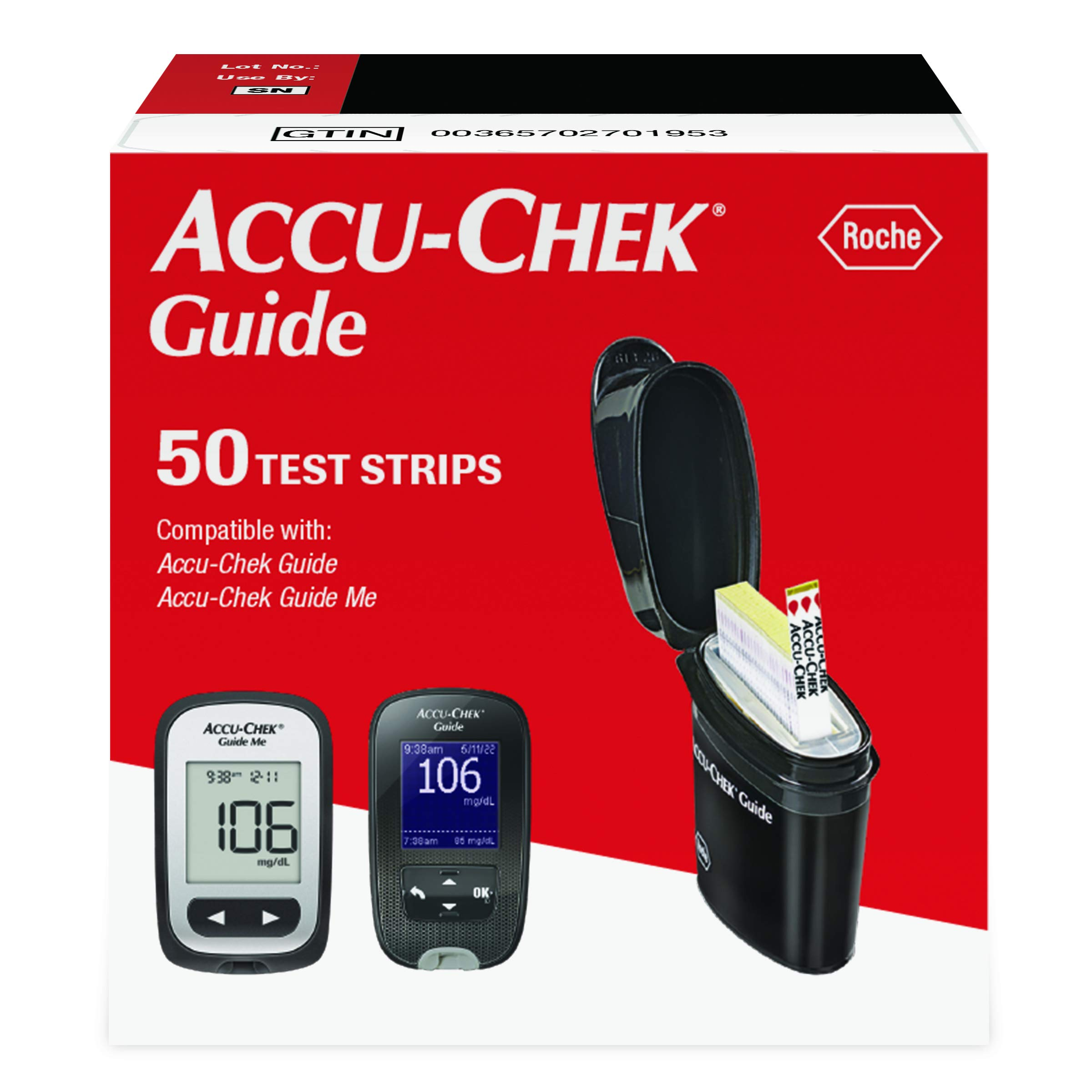 Accu-Chek Guide Test Strips - 50 ct (0195)