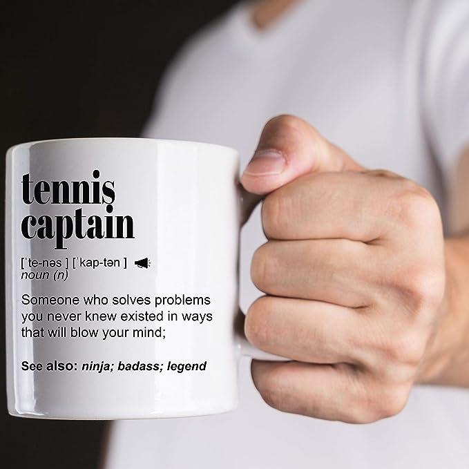 Amazon.com | Best Tennis Captain, Coach Gift Mug For Women A-N-D Men, For Birth-day, appreciation, Thank You Gift, Personalized Custom Name COFfee Mug coffee mug: Coffee Cups & Mugs