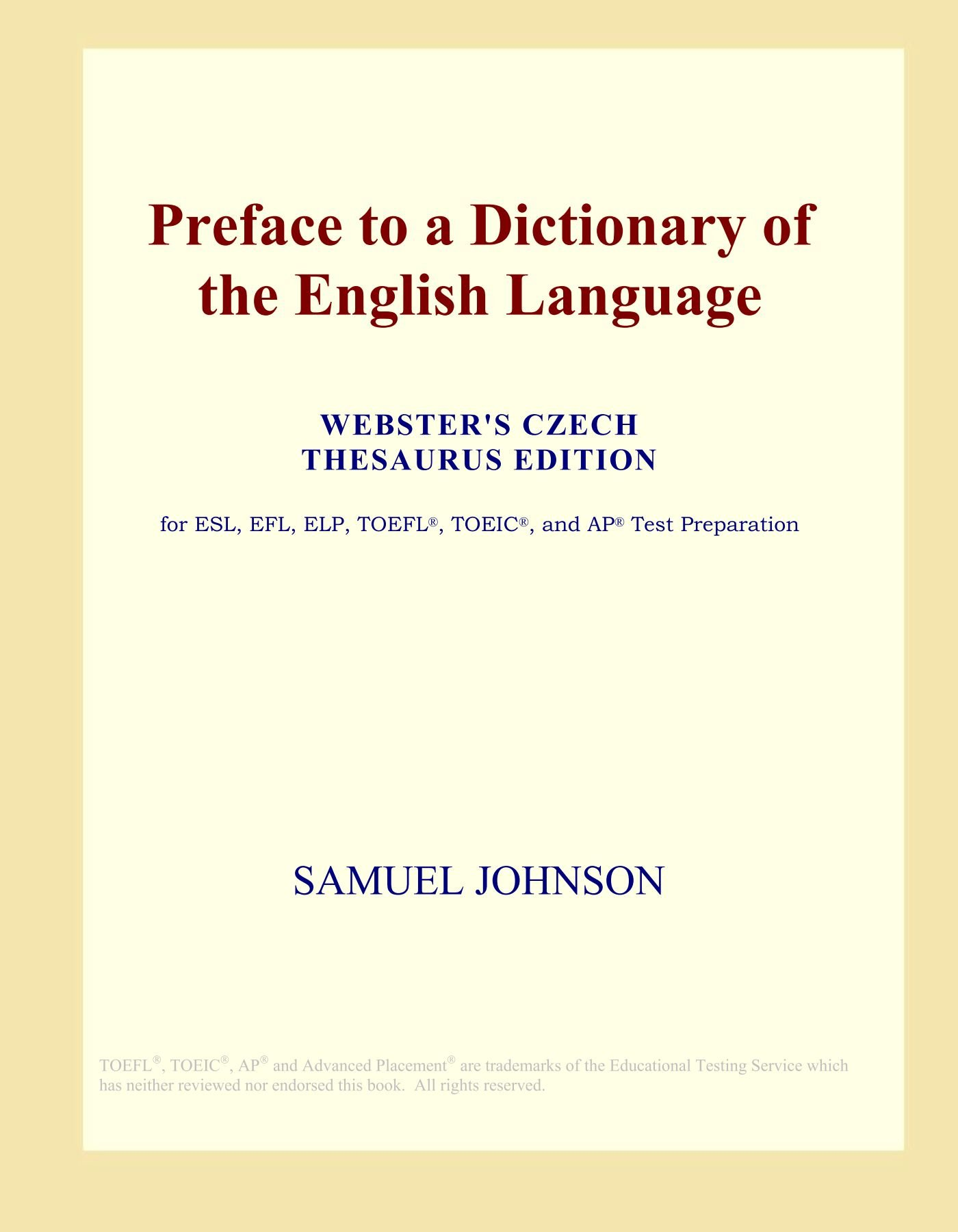 Websters Czech - English Thesaurus Dictionary