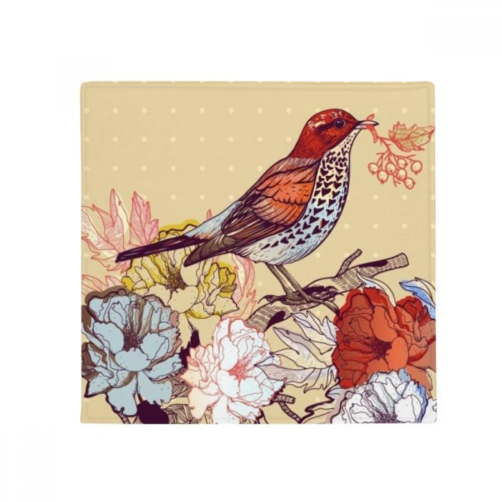 DIYthinker Birds Branch Flowers Fruit Anti-Slip Floor Pet Mat Square Home Kitchen Door 80Cm Gift