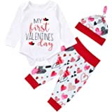 iCrazy Baby Boy My First Valentines Outfit Set Heart Breaker Funny Romper