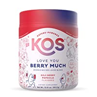 KOS Organic Reds Blend Supplement - Delicious Goji Berry Popsicle Flavor- Red Superfood Powder - Energy Booster, Digestive & Circulation Support - Goji Berries, Beet Root, Acerola, Acai - 45 Servings