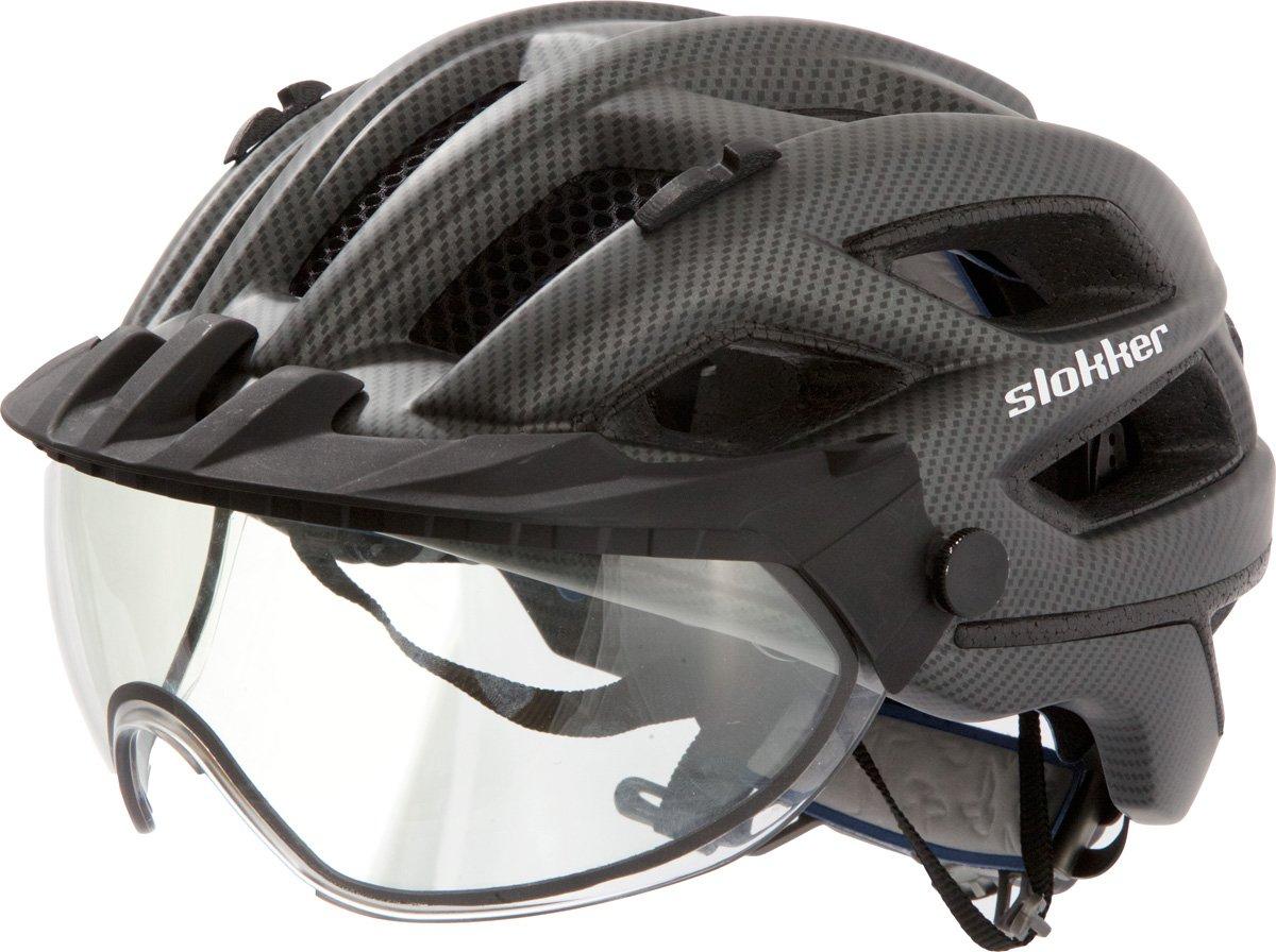 Slokker Fahrradhelm, Radhelm, Radsport PENEGAL mit Verstellbarem, selbsttönendem (photocromatischem) Visier Weltneuheit