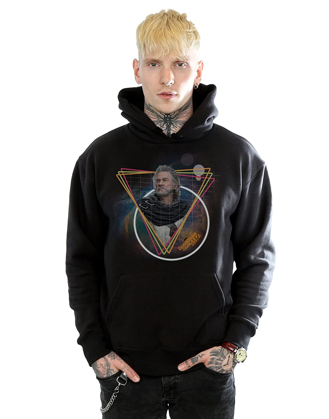 Marvel Herren Guardians of the Galaxy Neon Ego Kapuzenpullover
