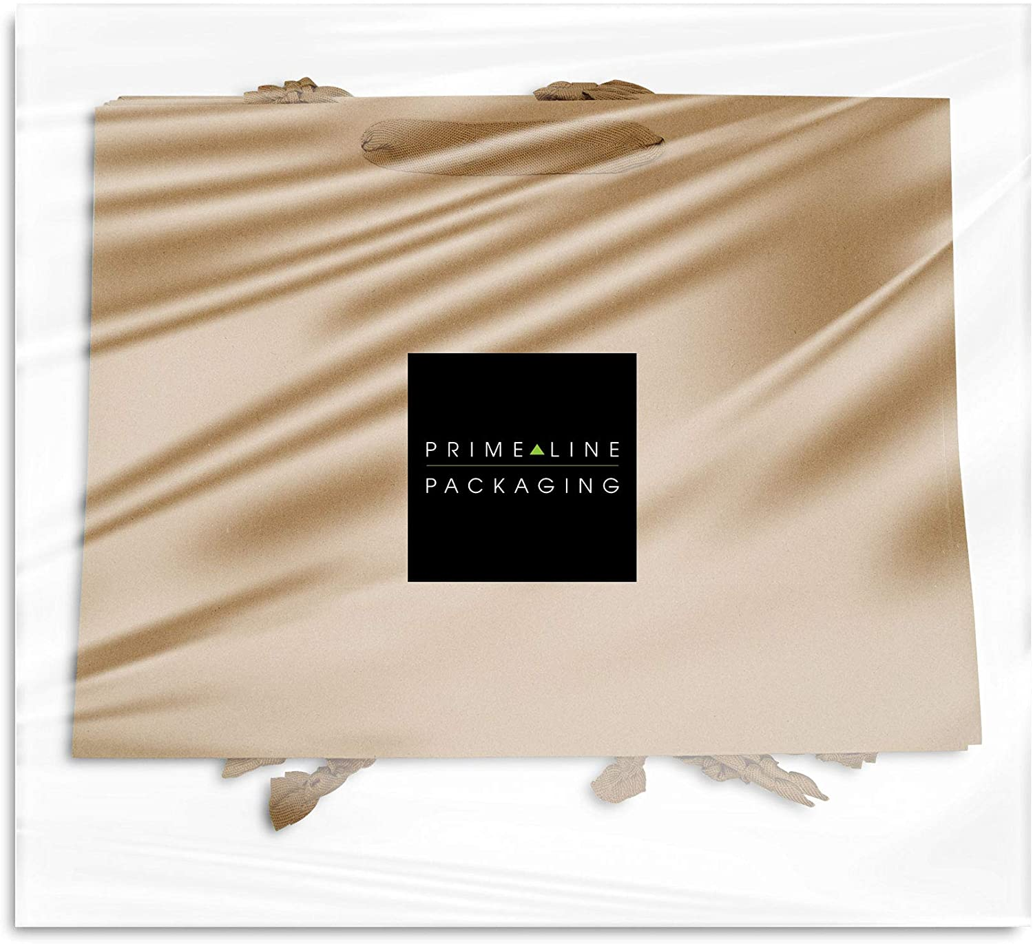 Merchandise Party Bulk Gift Bags Brown Paper Bags with Fancy Twill Handles Take-Out Retail Paper Shopping Bags Vogue Size Large Kraft Favor Store Goody 16x6x12 inches 50 Pcs