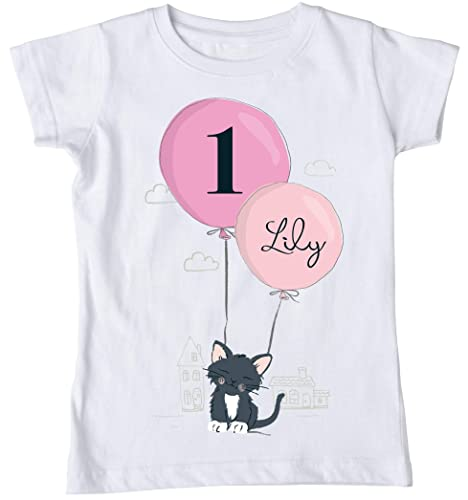 Kitten Birthday Shirt Cat Kitty Personalized Girls Outfit Themed Party