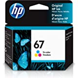 HP 67 | Ink Cartridge | Tri-color | Works with HP ENVY 6000 Series, HP ENVY Pro 6400 Series, HP DeskJet 1255, 2700 Series, De