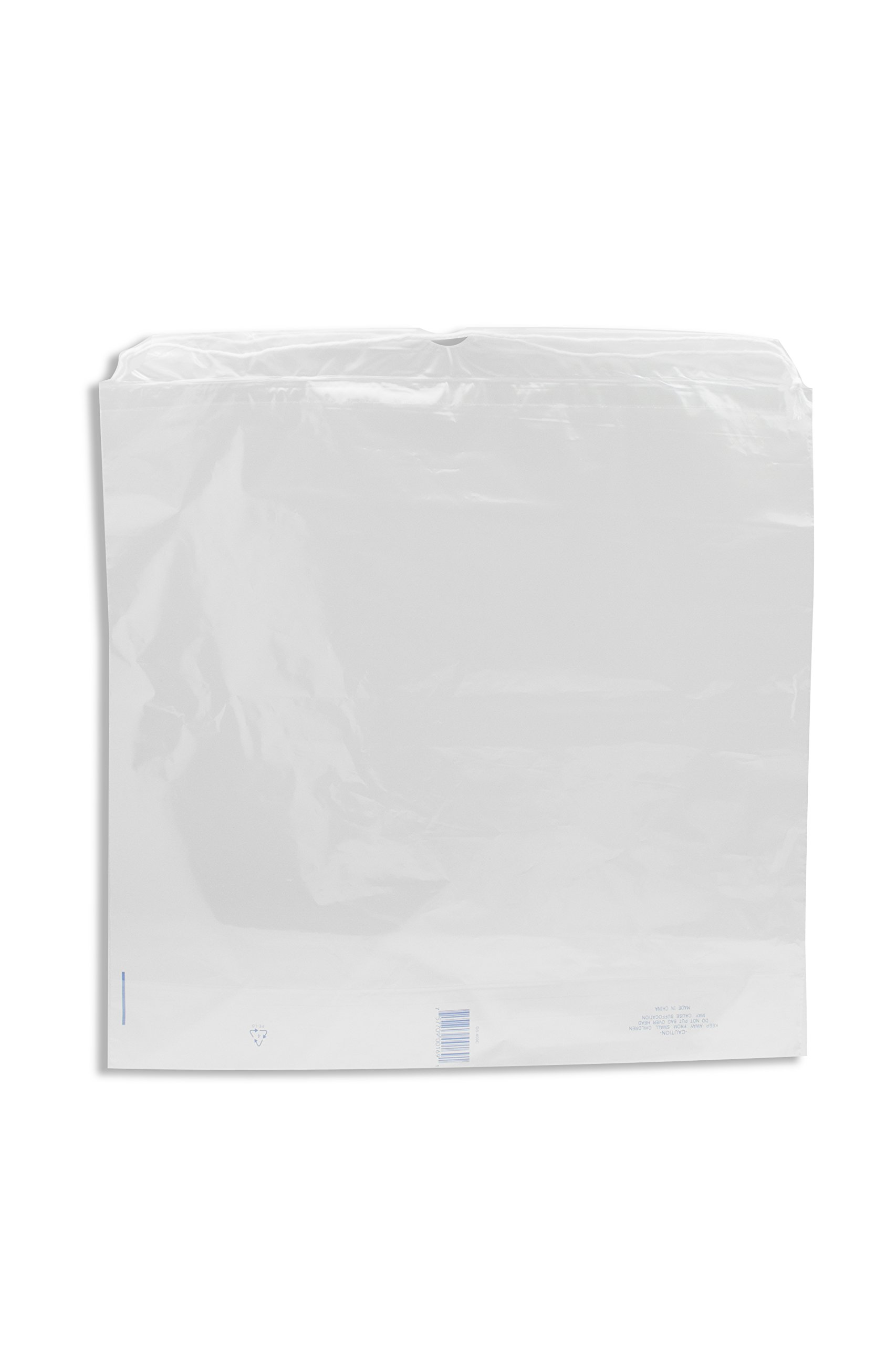 Dukal DS500C Dawn Mist Drawstring Patient Belonging Bag, 1.5 mil Thick, 7'' Gusset, 18'' W x 20.5'' L, Clear (Pack of 500) by Dukal