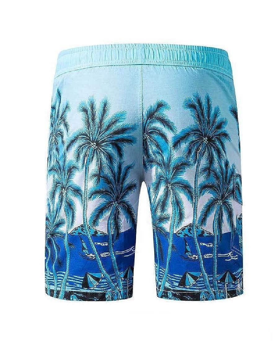 Unastar Men Cozy Casual Leisure Beach Beach Shorts Square Leg Board Short
