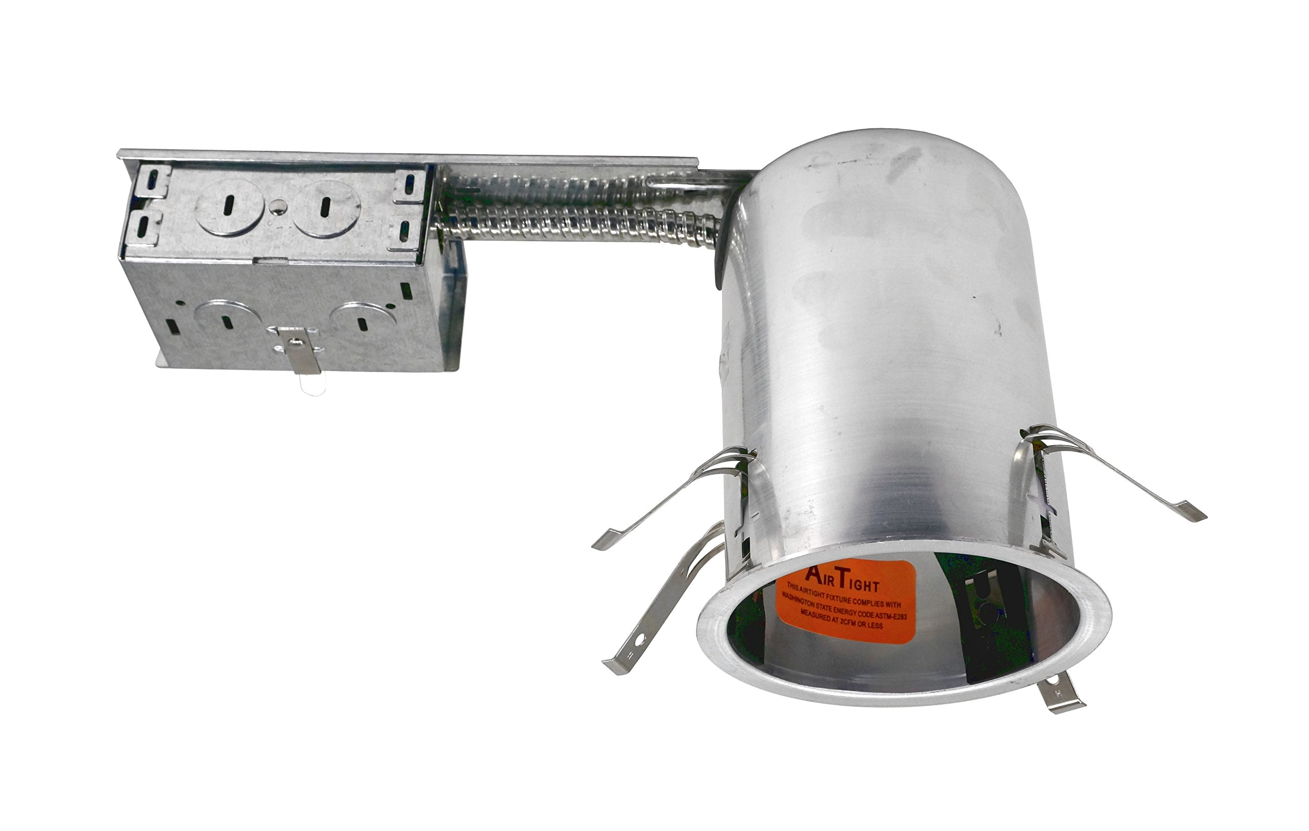 NICOR Lighting 4-inch IC-Rated Line-Voltage Aluminum Airtight Remodel Housing (19005AR)