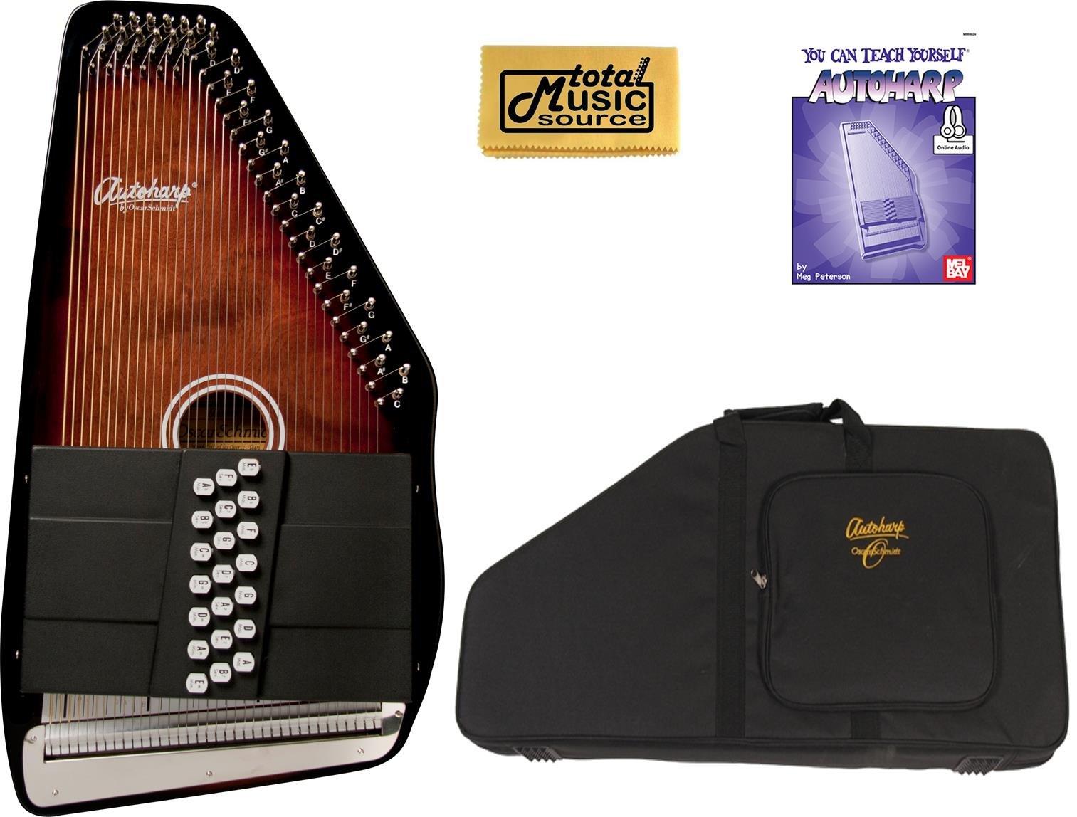 Oscar Schmidt 21 Chord/11 Key A/E Autoharp, Select Maple, OS21CE