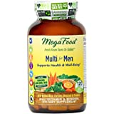 MegaFood - Multi for Men, Multivitamin Support for Energy Production, Cardiovascular Health, and Immune Function with Methylated Folate and B12, Vegetarian, Gluten-Free, Non-GMO, 120 Tablets