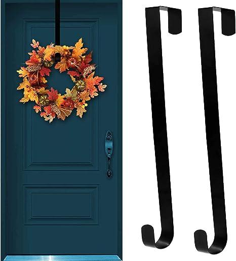 """14/"""" Long Wreath Metal Hook Hanger for Front Door Over The Door Heavy Duty"""