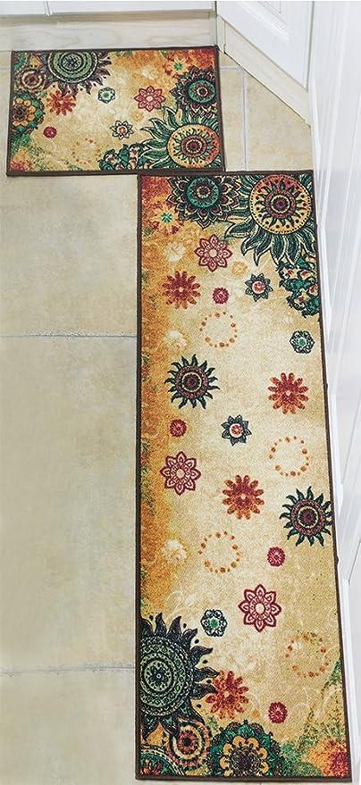 Amazon Com Boho Area Rugs Retro Floral Memorecool Home Living