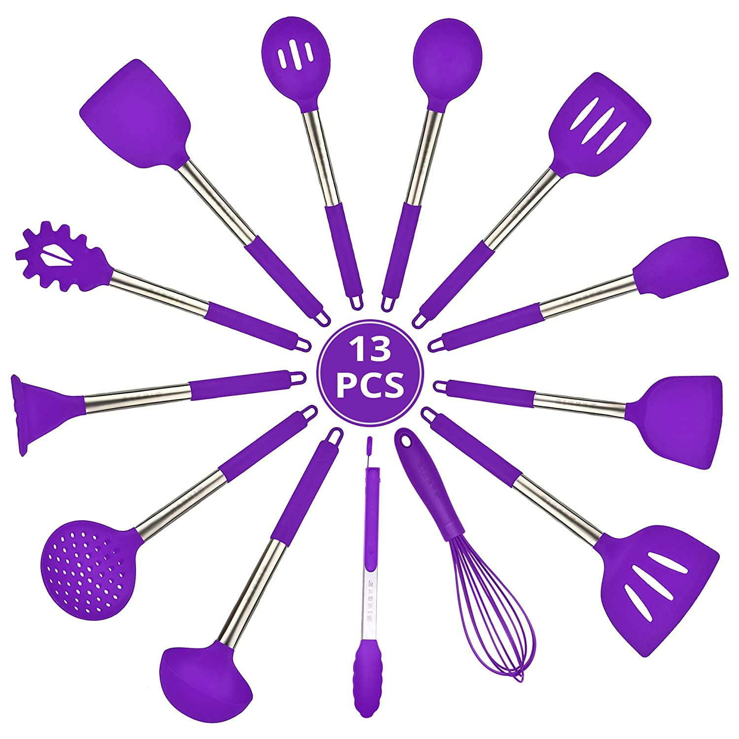 GINEVE Utensils For Pressure Cooker Accessories Set Use with Insta Pot & Instapot Accessory, Nice For Instant Pot Accessories 6 qt, For 3 5 6 8 10 qt Insta Pot, Use With All types of Cookware