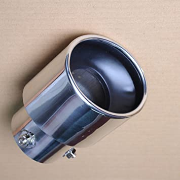 UNIVERSAL Car Exhaust Muffler Silencer Tip Tail 35-60mm Inside Diameter