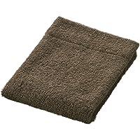 Muji Cotton Pile Thin Hand Towel, 34 x 35cm, Dark Brown