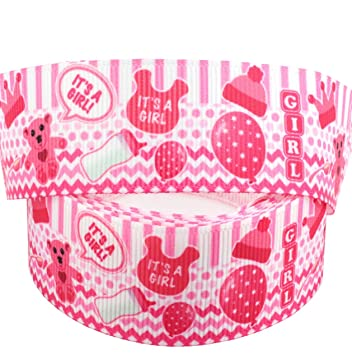2 m x 22 mm color rosa it s a Girl – Cochecito de bebé cinta para