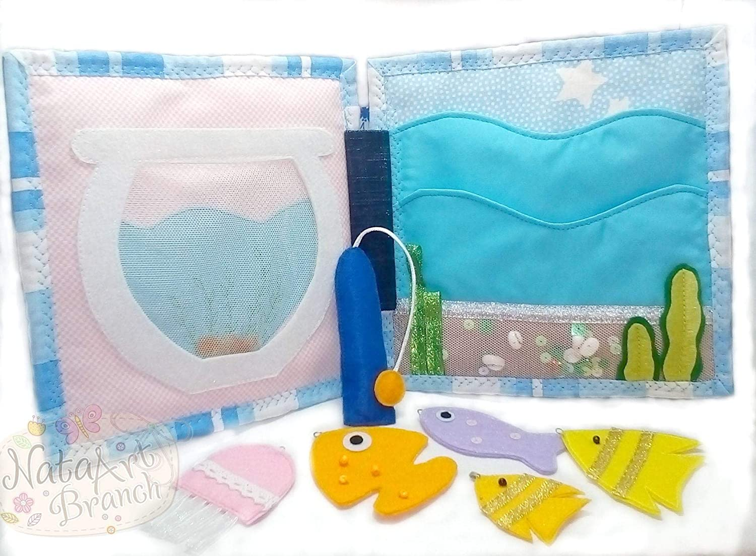 Quiet Book Busy book Felt book Fishing game Soft book Activity book Educational game Quiet toy Travel toy Baby shower gift
