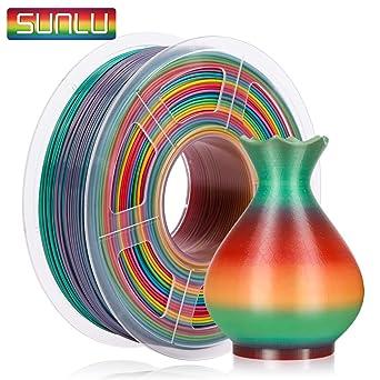 Sunlu Filamento PLA 1,75 mm Rainbow, impresora 3D PLA Filamento 1 ...