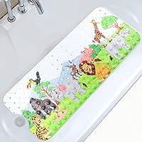 Moocuca Alfombrilla Antideslizante Bañera 100 x 40CM, Alfombra Baño Infantil con 200 Ventosas Fuertes, Patrón de Dibujos…