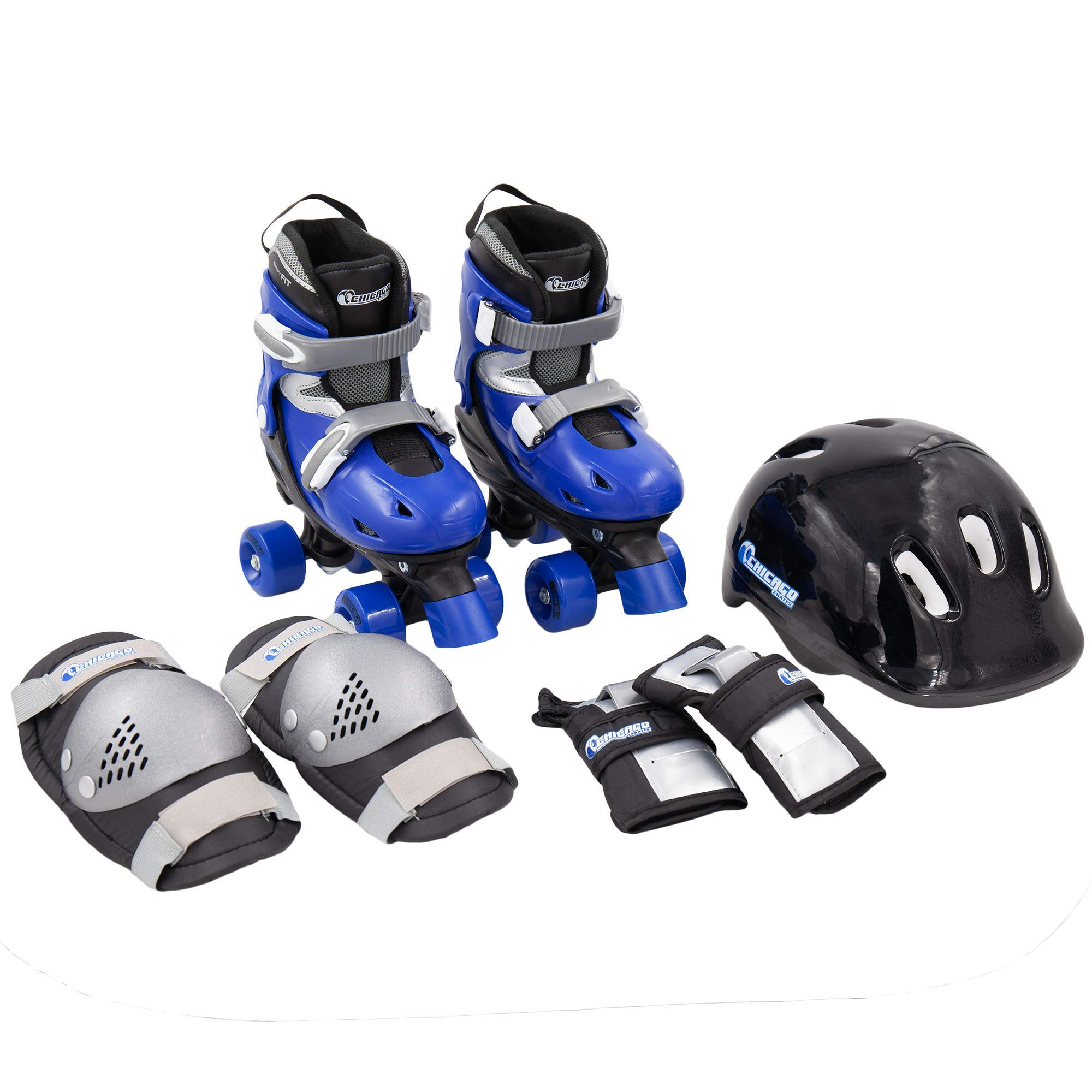 Chicago Boys Quad Roller Skate Combo, Small (Renewed)