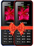 I KALL K20 Dual Sim 4.57 cm (1.8 Inch) Mobile Phone Combo - K20 (Blue & Red)
