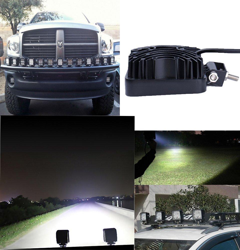 Traktor Bagger SLPRO/® 8 X LED 48W Arbeitsscheinwerfer Arbeitsleuchte 3800lm 6000K 67IP R/ückfahrscheinwerfer
