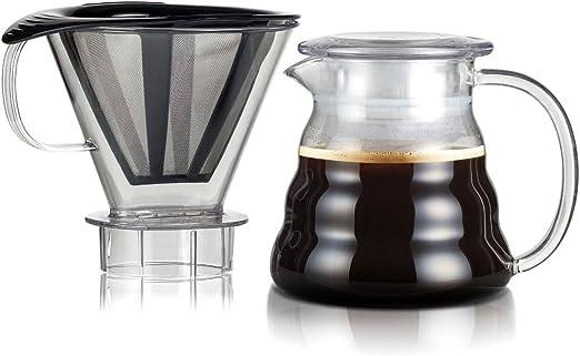 Bodum - 11767-10-01S - Melior - Cafetera de Filtro Permanente de Filtro Fino de Acero Inoxidable - con Soporte para Filtro tritan - 0.6 l: Amazon.es: Hogar