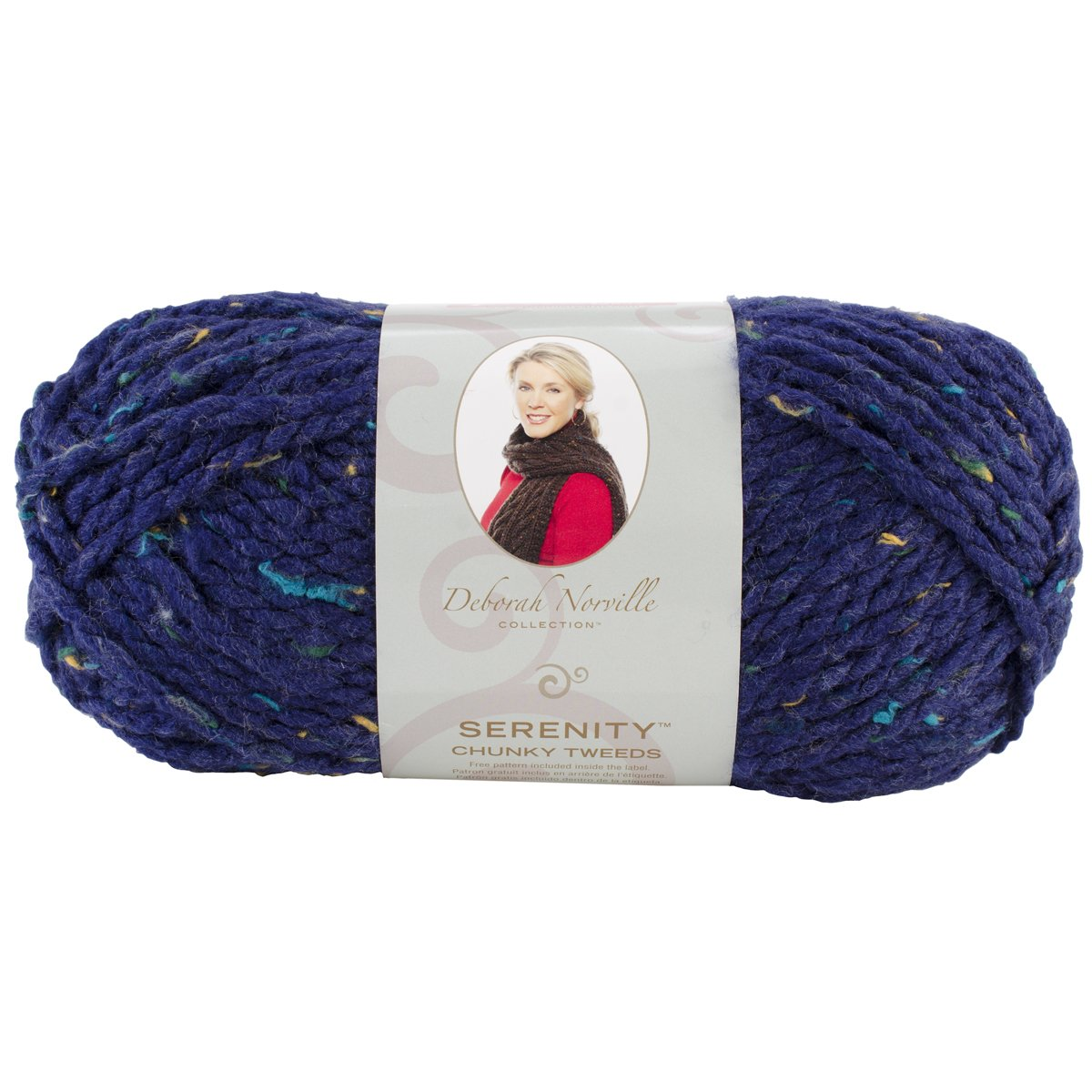 Deborah Norville Collection Serenity Chunky Tweed Yarn-Eclipse by Premier Yarns B004I4WQFQ
