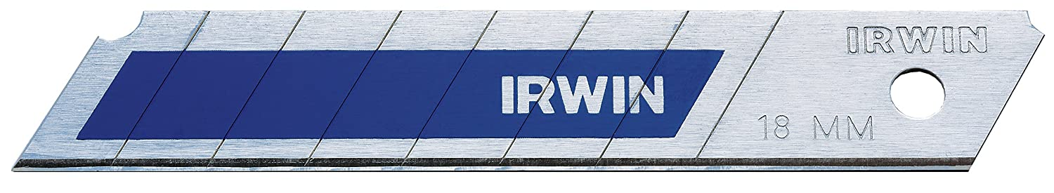 Irwin 10507104 Bi-Metal Snap-Off Blades, Silver/Blue, 18 mm Irwin Tools