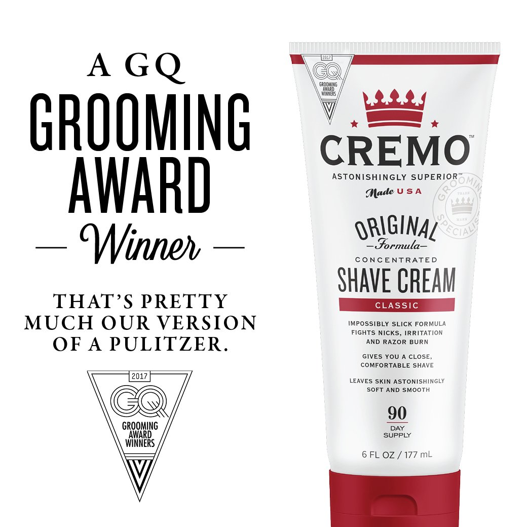 Cremo Original Shave Cream, Astonishingly Superior Smooth Shaving Cream Fights Nicks, Cuts And Razor Burn, 6 FL oz, 2-Pack by Cremo (Image #6)