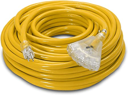 Primary Wire Yellow 10 Gauge  3 Packs  24 Total Feet