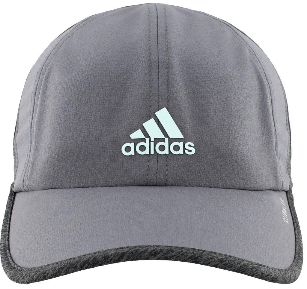 0470f44c4 adidas Women's Superlite Relaxed Adjustable Performance Cap, Onix/Dark Grey  Heather/Fresh Green, One Size